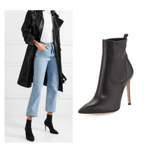 $1200 gianvito rossi stretch ankle pointy boots